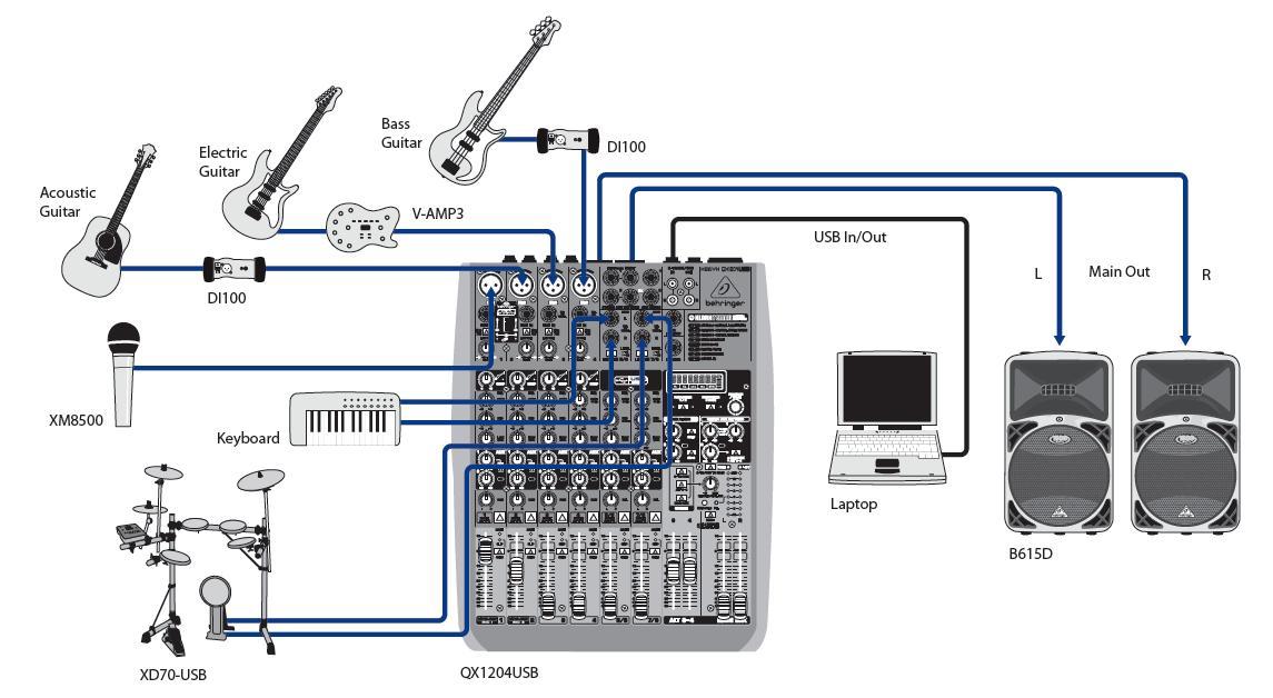 QX1204USB схема
